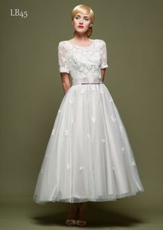 Loulou Bridal – fabulous tea length dresses LB45FLaL – Fifties Wedding