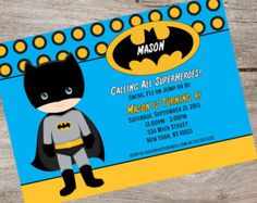 PRINTABLE Little Batman Baby Shower Baby Wishes by AtomDesign
