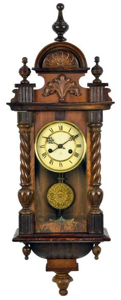 AN ANTIQUE FRENCH VICTORIAN WALL CLOCK c. Early 20th Century, France