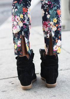 Floral and kicks.
