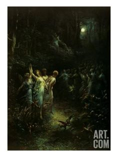 Midsummer Night's Dream Giclee Print by Gustave Doré at Art.com