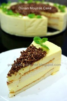 A good slice in the morning to start my new day. Another durian cake for this season. The durian souffle cheesecake sold out in no . Asian Desserts, Sweet Desserts, Easy Desserts, Dessert Recipes, Cake Recipes, Indonesian Desserts, Dessert Ideas, Lemon Souffle Recipe, Souffle Recipes