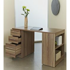 Jesper Office Study Desk With Drawers And Bookcase Ping Great Deals On