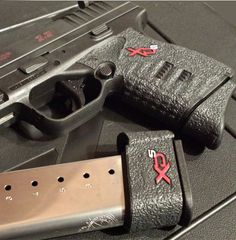 TALON Grips for Springfield XD-S and ACP single stack models with the barrel (Rubber Texture) Springfield Xd, Home Defense, Self Defense, Rubber Texture, Tac Gear, Shooting Guns, Military Guns, Concealed Carry, Firearms