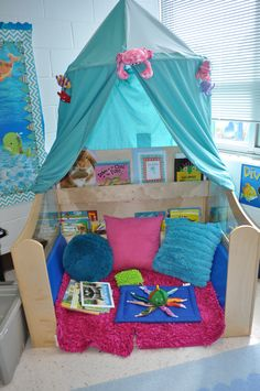 This is an area where my kiddos read or if they are having a hard time go for some tactile sensory input.I teach special education, but this could work for any primary classroom.