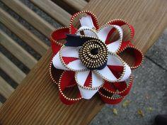 Patriotic Zipper Flower