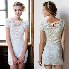 Sweet and sexy crocheted dress of organic cotton from Stewart + Brown.