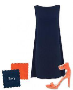 Trending Now: Wearing Navy and Orange-Spring 2016 - Elegantly Dressed & Stylish - Over 40 Fashion Blog