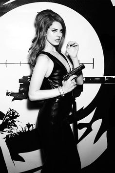 Outtake of Lana Del Rey's shoot by Ellen Von Unwerth during January 2012, later used in Lovecat and Vogue Italy magazine spreads