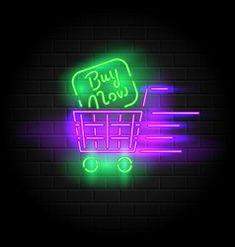 neon vectorstock vector signs tag