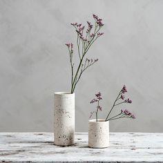 Nya vaser i terazzo från danska Candle Holders, Vase, Candles, Instagram, Home Decor, Decorations, Decoration Home, Room Decor, Porta Velas