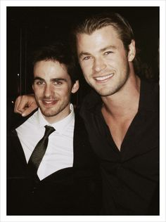 Colin O'Donoghue with Chris Hemsworth. What-How-Where did this take place?!