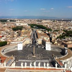View of Rome from the Dome of St. Peters Basilica in Vatican City ~ Rome, Italy ritajburke
