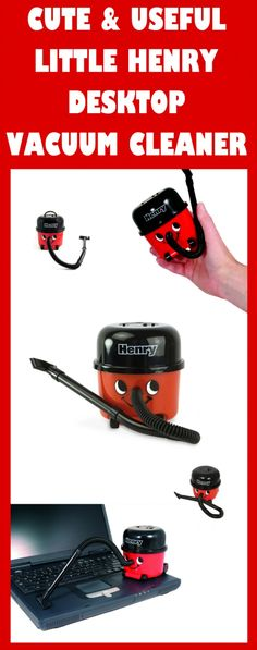 EXTREMELY CUTE HENRY DESKTOP VACUUM CLEANER!!! GREAT OFFICE or HOME GIFT!!!
