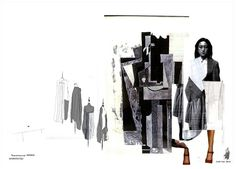 Fashion Portfolio - fashion design layout; fashion sketchbook; fashion collage illustration // Jaskiran Hare
