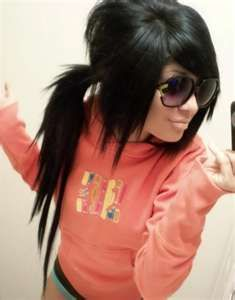 love the hair. Always want to try all black hair... Can't wait to go back to this color!!