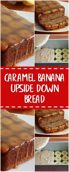 Caramel Banana Upside Down Bread #caramel #banana #bread #breadrecipes #cooking #cookingtips