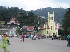 """The ' Summer Capital of the British"""" and the capital of Himachal Pradesh,shimla sits perched high up in himalayas.the Charming Hill station is a perfect mix of history and Culture,Bazaars and quaint lodges and conifer tress covered with snow.its beautiful allies and colonial charms makes its a picturesque setting for romantic holiday.the Toy train ride from kalka to shimla is memorable one and enjoyed by children and adults alike."""