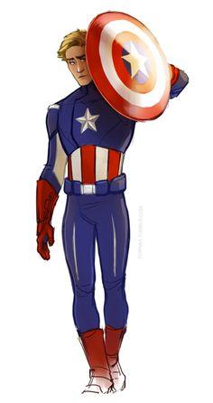 Captain America Disney style