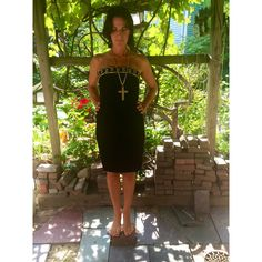 1980s designer vintage ($60) ❤ liked on Polyvore featuring dresses, little black dress, long dresses, cocktail dresses, evening dresses and little black cocktail dresses