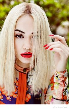 Pop singer Rita Ora is back in the spotlight once again for the April 2015 cover shoot from InStyle UK. After recently performing at the Oscars last month, the blonde beauty poses in spring fashion looks by top labels for the magazine. In her interview, Rita opens up about being on 'The Voice UK', 'Fifty Shade of Grey' and more.