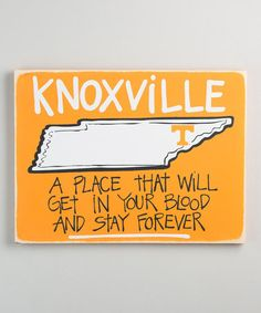 Another great find on #zulily! Tennessee Volunteers Map Wall Sign #zulilyfinds