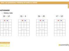 Resultado de imagen para ejercicios para enseñar las decenas y unidades