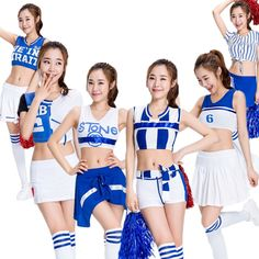 High School Musical Cheerleader Costume Cheer Uniform Fancy Dress Without Pom poms plus size Cheerleader fancy Costume High School Musical, Fancy Costumes, Girl Costumes, Girls Sportswear, Costume Accessories, School Outfits, Fancy Dress, Cheerleading, Cheer Skirts