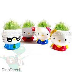 Hello Kitty Style Grass DIY Planter