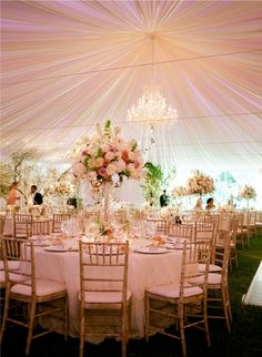 Tent Wedding with pink theme