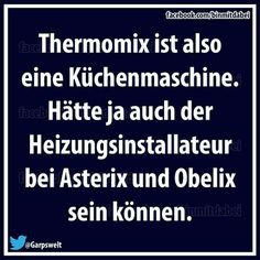Thermomix is a food processor. It could also be the heating engineer for Asterix and Obelix.