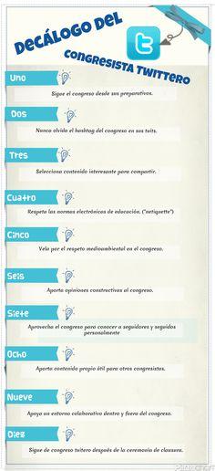 Decálogo del congresista tuitero #infografia by @alfredovela conocido, pero hay que refrescar