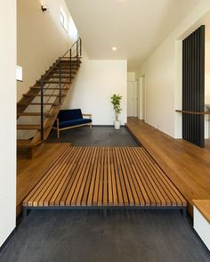 house and home Home Entrance Decor, House Entrance, Home Decor, Japanese Modern House, Timber Staircase, Stairs Architecture, Minimalist Interior, Home Fashion, Great Rooms