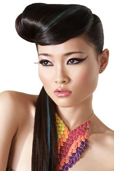Love the Hair, makeup & Geometric shapes