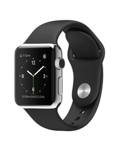 38mm Stainless Steel Case with Black Sport Band