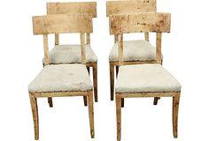 Swedish Biedermeier Chairs, C. 1840 on OneKingsLane.com