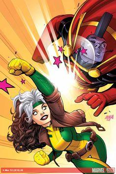 X-Men '92 (2016) #8Los X-Men se pierden en el espacio! Afortunadamente, Gladiador está aquí para ayudarles a salir -NO, ESPERE - Está aquí para Brawl !!!