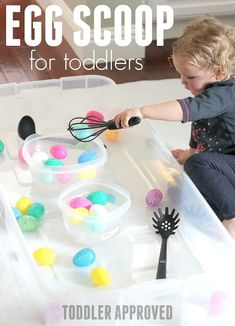 Water Sensory Tub Activities for Toddlers - Toddler Approved!: Water Sensory Tub Activities for Toddlers - {hashtag} Easter Activities For Toddlers, Spring Activities, Infant Activities, Young Toddler Activities, Playgroup Activities, Children Activities, Games For Toddlers, Toddler Preschool, Crafty Ideas