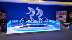 Toyota Hybrid Tandem Bike Exhibition Ideas, Exhibition Booth, Toyota Hybrid, Booth Design, Tandem, Sparkle, Inspire, Science, Bike