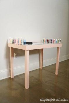 DIY Whiteboard Play Table