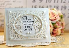 Card Making Ideas by Becca Feeken using a Quietfire Design sentiment and Spellbinders