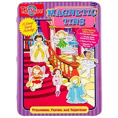 T.S. Shure Princesses, Fairies and Ballerinas Magnetic Tin Play Set * Details can be found by clicking on the image.