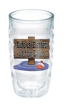 On The Water Life is Better At The Lake 10 Oz. Wavy Tumbler