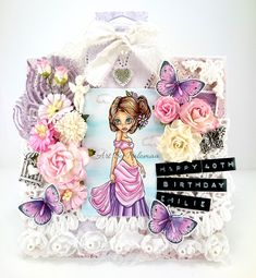 Scrapkonst: A 40th Birthday Card in pink and purple!
