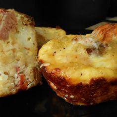 Ham & Tater tot egg a la muffin tin Recipe   Just A Pinch Recipes