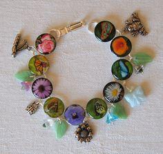 Butterfly Charm Bracelet at WingsAndPetalsByTyna at Etsy