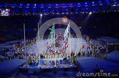 Parade of Nations at Rio2016 closing ceremonies at Maracana stadium in Rio de Janeiro, Brazil. Photo taken on Aug 21st, 2016