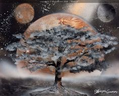 Bonzai moon at night Flash Art, Buy Prints, Moon, Night, Canvas, Painting, The Moon, Tela, Painting Art