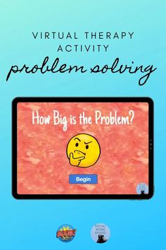 Interactive size of the problem activity for telehealth sessions. Perfect for virtual sessions with tweens and teens! #telehealth #counseling #therapy #boomcards #problemsolving #speechtherapy Family Therapy Activities, Activities For Teens, Counseling Activities, School Counseling, Virtual Counselor, Social Emotional Activities, Counseling Psychology, School Social Work, Guidance Lessons