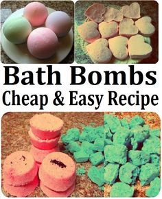DIY Bath Bombs / Fizzies Recipe, How to Make SPA Products CHEAP, EASY  QUICK!